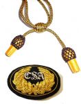 Officers Black & Gold Hat Cord And Sewn CSA Badge